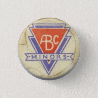 Abc-minderårigemblem - vit - 3 mini knapp rund 3.2 cm