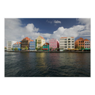 Abc-öar, CURACAO, Willemstad: Harborfront Poster
