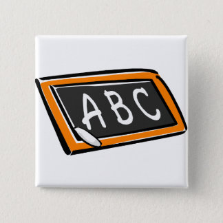 ABC på blackboarden Standard Kanpp Fyrkantig 5.1 Cm