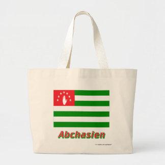 Abchasien Flagge mit Namen Tote Bags