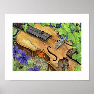 Abcs tryck av den Virkie volen och hans fiol