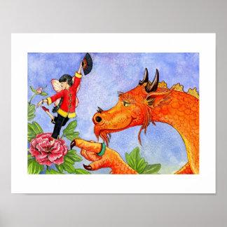 Abcs tryck av Xiao Xiong den kloka dragon.en