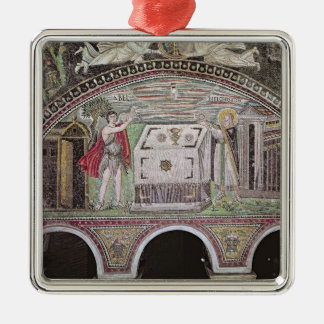 Abel och Melchisedech som erbjuder på altaret Julgransprydnad Metall