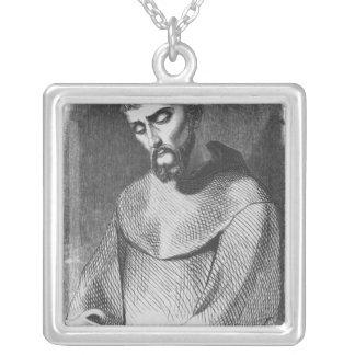 Abelard som munk på Sanktt-Gildas-de-Rhuys Silverpläterat Halsband