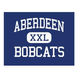 Aberdeen - Bobcats - kick - Aberdeen Washington Vykort