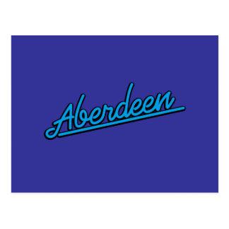 Aberdeen i cyan vykort