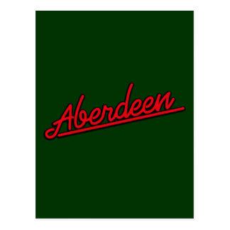 Aberdeen i rött vykort