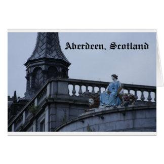 Aberdeen Skottland Hälsningskort