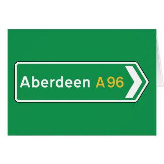 Aberdeen UK vägmärke Hälsningskort