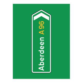 Aberdeen UK vägmärke Vykort