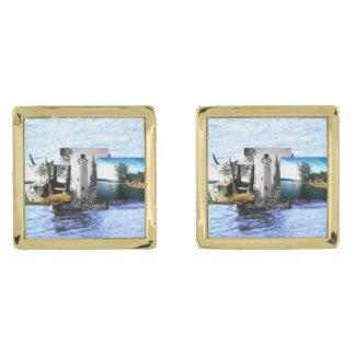 ABH-Isle Royale Guldpläterade Manschetterknappar