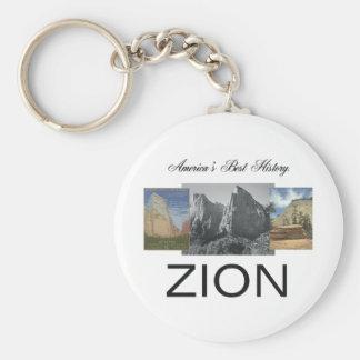 ABH Zion Rund Nyckelring