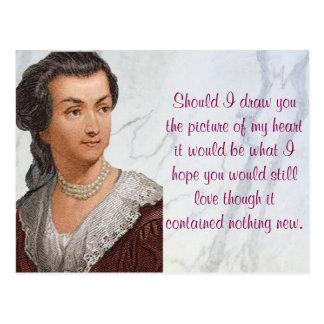 Abigail Adams kärlekbrev Vykort