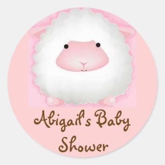 Abigails baby shower runt klistermärke