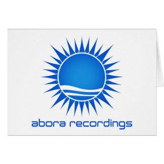 Abora inspelningar noterar det stora kortet OBS kort