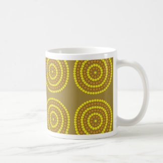 Aboriginal beige kaffemugg