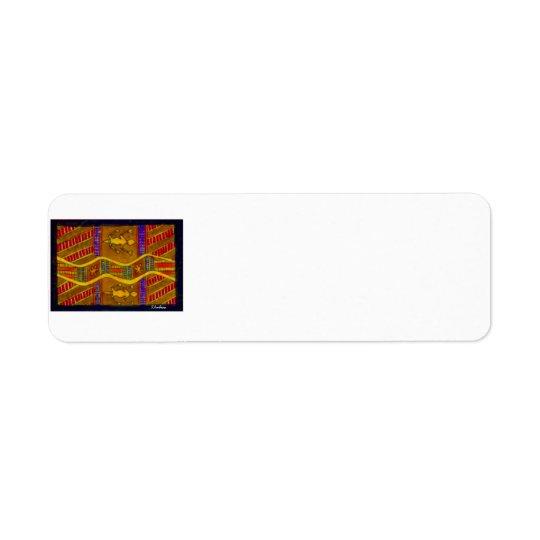 Aboriginal Dreamtime Goannas av S. Ambrose Märka Returadress Etikett