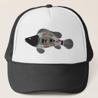 Aboriginal konstfisk - autentisk Aboriginal konst Keps