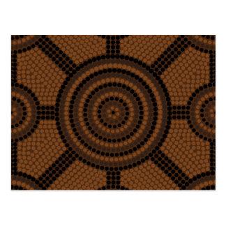 Aboriginal pricka målning vykort