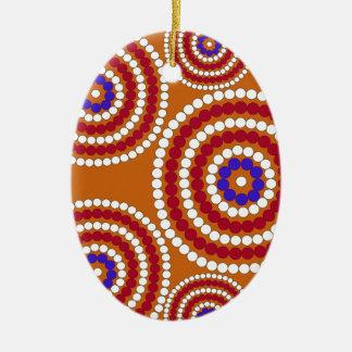Aboriginal upplaga julgransprydnad keramik
