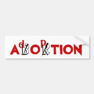 ABORT/adoption Bildekal