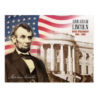 Abraham Lincoln - 16th president av U.S.et Vykort