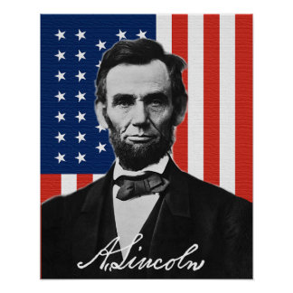 Abraham Lincoln affisch