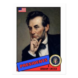 Abraham Lincoln baseballkort Vykort