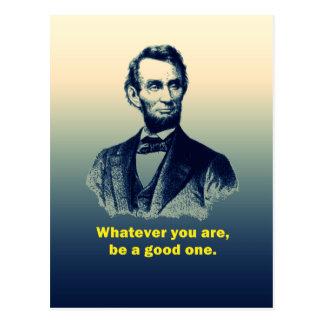 Abraham Lincoln citationstecken Vykort