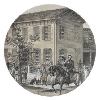 Abraham Lincoln dekorerar pläterar Tallrik