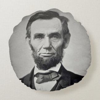 Abraham Lincoln Gettysburg porträtt Rund Kudde