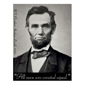 Abraham Lincoln Gettysburg porträtt Vykort