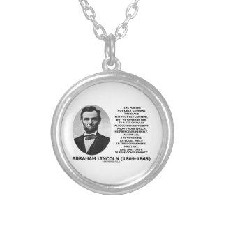 Abraham Lincoln ledar- slav- självstyre