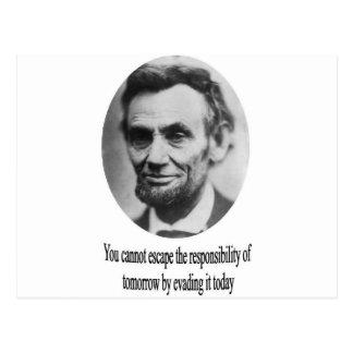 Abraham Lincoln med citationstecken Vykort