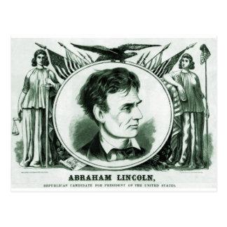 Abraham Lincoln presidentkandidat Vykort