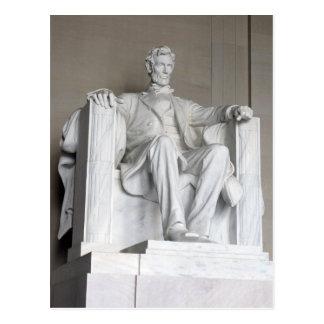 Abraham Lincoln statyLincoln minnesmärke Vykort