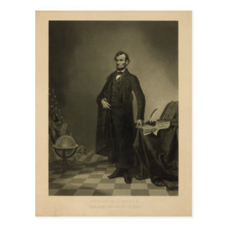 Abraham Lincoln vid William Pate Vykort