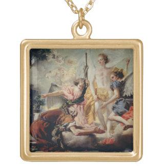 Abraham och den tre änglar guldpläterat halsband