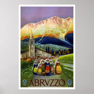 """""""Abruzzo, italien"""" vintage resoraffisch"""
