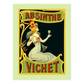 Absinthe Vichet, modern konstnouveau Vykort