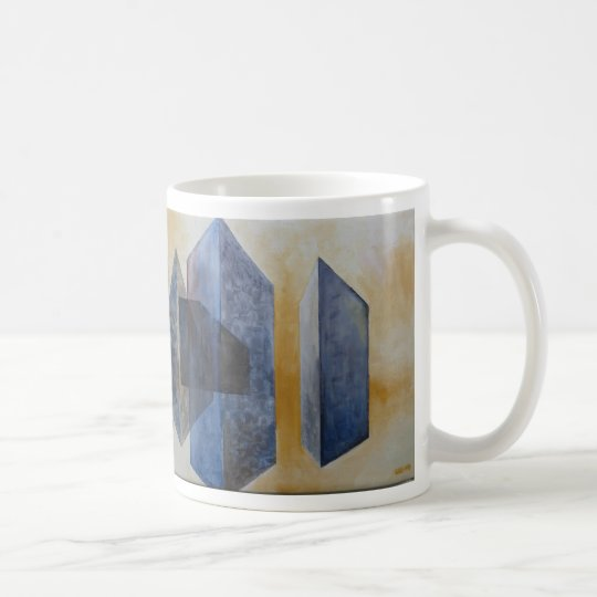 Abstract painting, print on coffee-mug kaffemugg