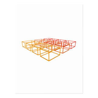 Abstrakt 3D boxas: Vykort