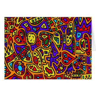 Abstrakt #416 hälsningskort