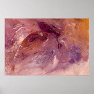 Abstrakt akryl för skatt på kanfas poster