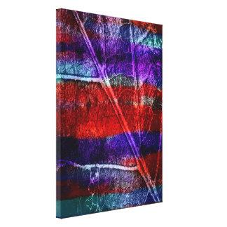 Abstrakt akryl på löv canvastryck
