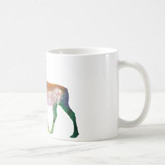 Abstrakt älgsilhouette kaffemugg