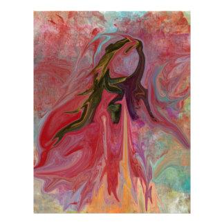 Abstrakt ängel i pastell brevhuvud