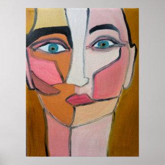 Abstrakt ansikte poster
