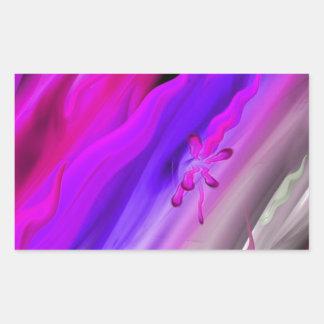 Abstrakt aquarelle rektangulärt klistermärke