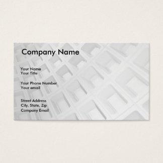 Abstrakt arkitektur i svartvitt visitkort